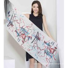 100% lenço de seda de cetim
