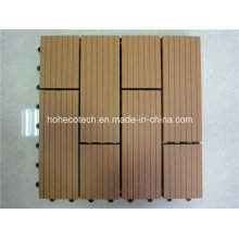 300*300mm Wood Sheets Plastic Base Easy WPC Interlocking Tile