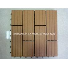Telha de bloqueio fácil plástica de WPC das bases de madeira de 300 * 300mm