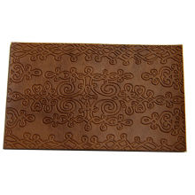 Camel Color Embossed Leather Patches Handcraft