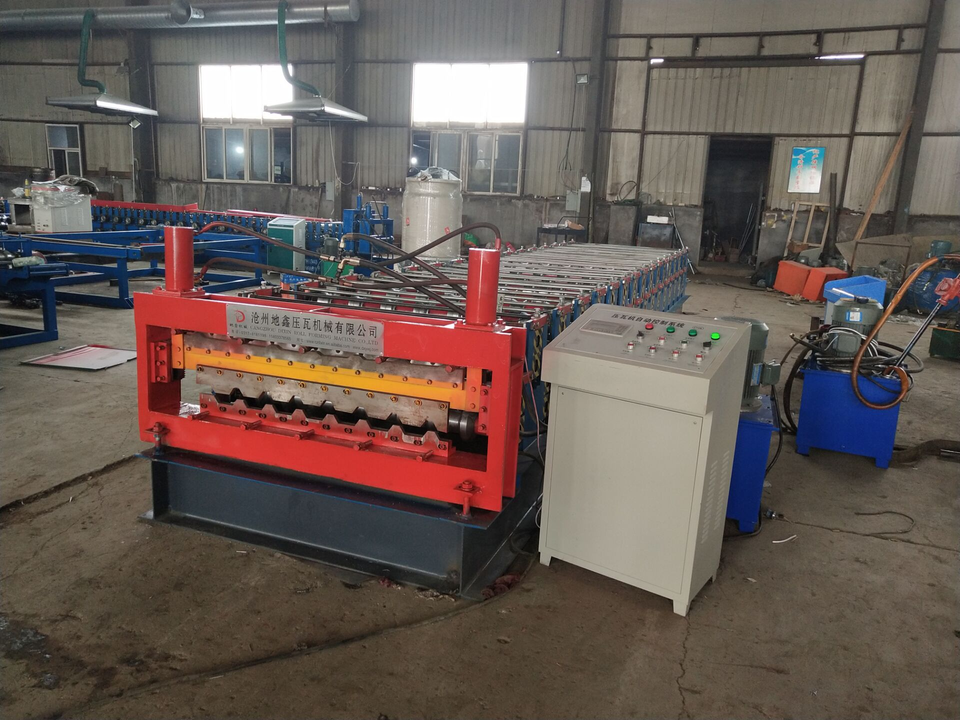 Double steel sheet ibr roll forming machinery