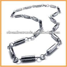 Collar de los hombres cadena de acero inoxidable collar de diseño de la cadena