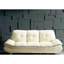 Tissu 100% de daim de polyester de cuir d'imitation pour des couvertures de meubles