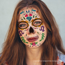 Masquerade and Parties Temporary Face Stickers Day of The Dead Makeup Face Tattoo Paper