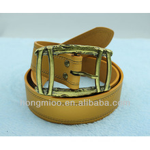 4mm wide leather belt with antique brass buckle