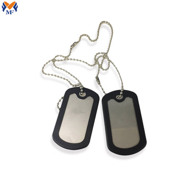 Metal dog tag keychain with your design
