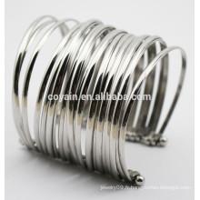 Bracelets en acier inoxydable 316L en punk