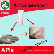 Traitement du vitiligo produit monobenzone pour blanchiment crème / poudre 30%, 40%, 50%, 60%