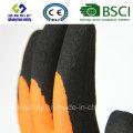 Gants de travail de sécurité en couche de nitrure et de nitrile (SL-NS117)
