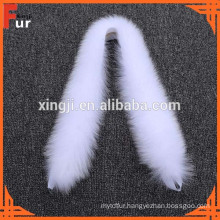 Pure White real fur Fox Fur Trim