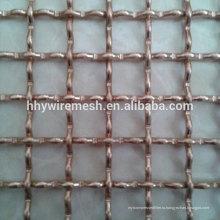 оцинкованная тканая сетка волнистой проволки сетка типов замков провод сплетенный экран ячеистой сети волнистой проволки