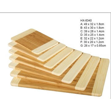 Manufactur standard for Bamboo Cutting Chopping Board 7 piece of bamboo board set in 2-tone export to Western Sahara Importers