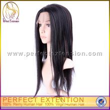 Fashionable Remi Black Medium Length Human Virgin European Hair Jewish Wig