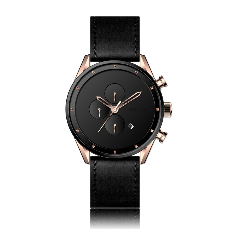 Trend design japan movt leather case quartz watch