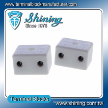 TC-152-A 2.5mm M3 Screw 15A High Temperature Ceramic Terminal Block