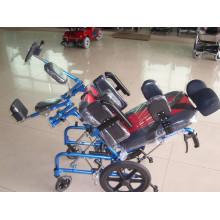 Ручное кресло-коляска с откидной спинкой и высокой спинкой для детей с церебральным параличом