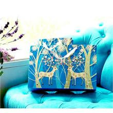 Europeisk stil Blue Christmas Deer Presentpapper