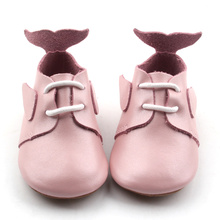Cute Dolphin Colorful Girl Dress Chaussures en cuir