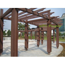 Natural Wood Like WPC Shad Terrace or Garden Pergolas