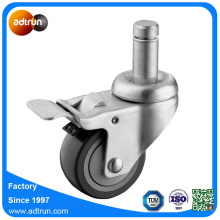 "Grip Ring Stem Casters 3 ""Ball Bearing PU Wheels"