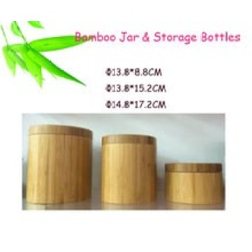 Airtight Bamboo Storage Canister