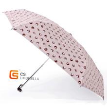 Portable petit chat impression 5 pliage parapluie (YS5F009B)