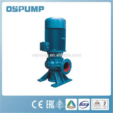 Submersible vertical raw sewage pump