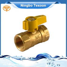 natural copper gas ball valves with thread ends CSA UL Yellow T handle
