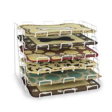 6mm Metall Draht Zähler Top 6-Tier Custom Retail Showroom Merchandising Tischset Matratze Display Rack