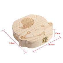 Tooth Box Organizer Baby Save Milk Teeth Wood Storage For Boys Girls First Gifts