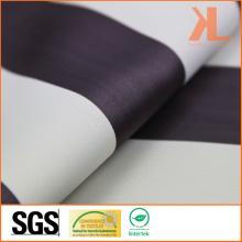 Polyester blanc marron rayé Twisted Inherently Flame Retardant Fireproof Blackout Fabric