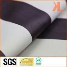 Polyester White Brown Striped Twilled Inherently Flame Retardant Fireproof Blackout Fabric