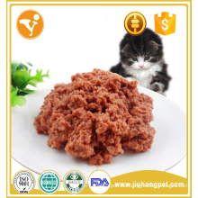 OEM factory sales tasty snack beef flavor canned cat food