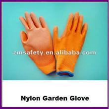 Guante de jardín de nylon recubierto de palma PU de seguridad