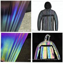 Hoher sichtbarer weicher wasserdichter Regenbogen reflektierender Stretch Textil / Stoff