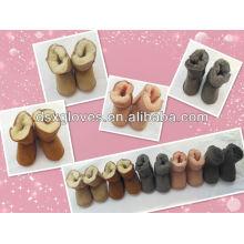 lovely Winter sheepskin Fur kids shoes