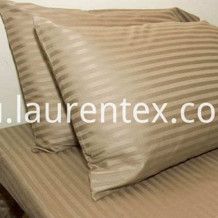 khaki sateen stipe sheet sets