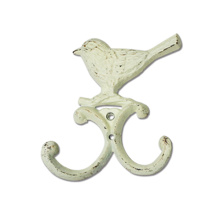 Cream cute birdie-shaped wall hook