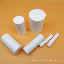 Barra redonda de moldura blanca de PTFE virgen