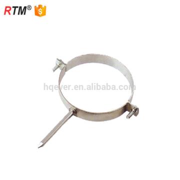A17 3 clip de fixation de câble collier de serrage tube rond pince en caoutchouc rembourré p en forme de collier de serrage