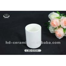 Taza de porcelana, taza de cerámica blanca sin mango, taza llana sin mango