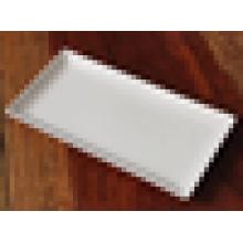 Plaque rectangulaire blanche plaque en céramique plat de poisson plat occidental barbecue plaque steak plat assiette