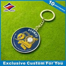 Porte-clés en métal de souvenir de haute qualité personnalisé avec anneau