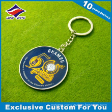 Custom High Quality Souvenir Metal Keychain with Ring