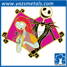 customize metal Hallowmas Christmas metal cartoon pin badge of party club