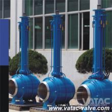 Высокого давления кованые стальные a105, марки lf2, F304, F304L, F316, f316l проставляет полный провар шаровой Клапан