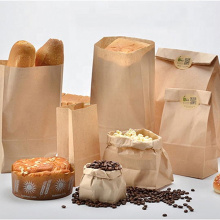 Recyclable kraft paper bag with twisted handle reusable shopping paper bags logo printed