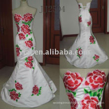 JJ2504 new arrivalfree shipping embroidery SEXY evening gown 2011