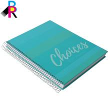 o logotipo imprimiu o caderno feito sob encomenda da capa dura com emperramento espiral