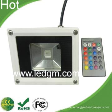 10W RGB LED Flutlicht mit IR Remote Controller